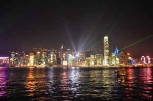 Symphony of lights @ Victoria Harbor